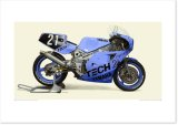 1985 YAMAHA FZR750 (0W74) - Shiseido Tech21 Racing Team